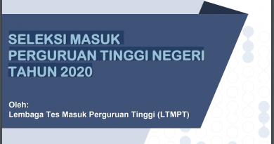 SELEKSI MASUK PERGURUAN TINGGI NEGERI TAHUN 2020